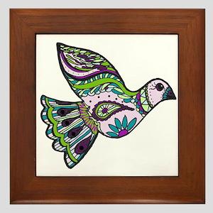 Zendoodle Bird Framed Tile