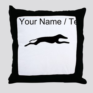 Greyhound Silhouette (Custom) Throw Pillow