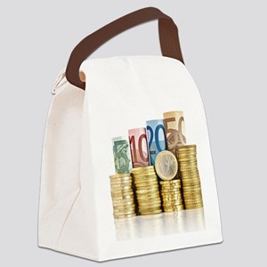 euro currency Canvas Lunch Bag