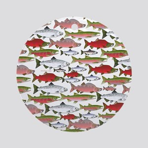Pacific Salmon pattern Ornament (Round)