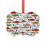 Pacific Salmon pattern Ornament