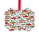 Pacific Salmon pattern Ornament