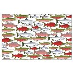 Pacific Salmon pattern Posters