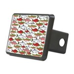 Pacific Salmon pattern Hitch Cover