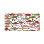 Pacific Salmon pattern Aluminum License Plate