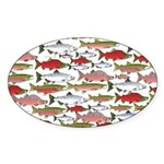 Pacific Salmon pattern Sticker