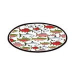 Pacific Salmon pattern Patches