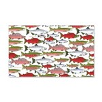 Pacific Salmon pattern Wall Decal