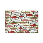 Pacific Salmon pattern Magnets