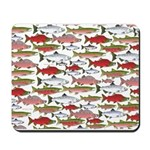 Pacific Salmon pattern Mousepad