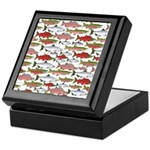 Pacific Salmon pattern Keepsake Box