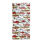 Pacific Salmon pattern Beach Towel