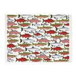 Pacific Salmon pattern 5'x7'Area Rug