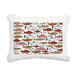 Pacific Salmon pattern Rectangular Canvas Pillow