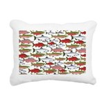 Pacific Salmon pattern Rectangular Canvas Pillow