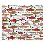 Pacific Salmon pattern King Duvet