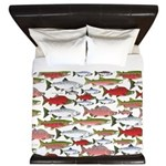 Pacific Salmon pattern King Duvet