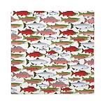 Pacific Salmon pattern Queen Duvet