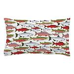 Pacific Salmon pattern Pillow Case