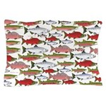 Pacific Salmon pattern Pillow Case