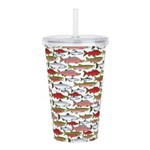 Pacific Salmon pattern Acrylic Double-wall Tumbler
