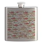 Pacific Salmon pattern Flask