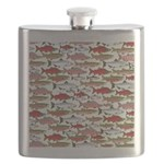 Pacific Salmon pattern Flask