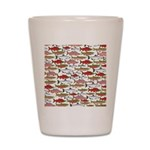 Pacific Salmon pattern Shot Glass