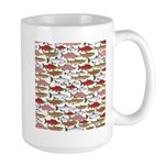 Pacific Salmon pattern Mugs