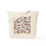 Pacific Salmon pattern Tote Bag