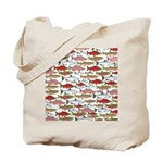 Pacific Salmon pattern Tote Bag