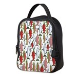 Pacific Salmon pattern Neoprene Lunch Bag