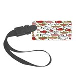 Pacific Salmon pattern Luggage Tag