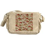 Pacific Salmon pattern Messenger Bag
