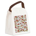 Pacific Salmon pattern Canvas Lunch Bag