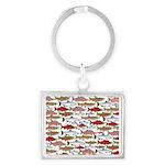 Pacific Salmon pattern Keychains
