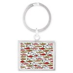 Pacific Salmon pattern Keychains