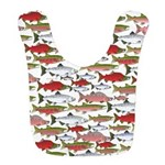 Pacific Salmon pattern Bib