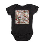 Pacific Salmon pattern Baby Bodysuit