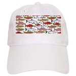 Pacific Salmon pattern Baseball Cap