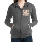 Pacific Salmon pattern Women's Zip Hoodie