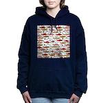 Pacific Salmon pattern Women's Hooded Sweatshirt