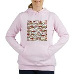 Pacific Salmon pattern Women's Hooded Sweatshirt