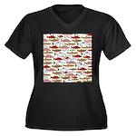 Pacific Salmon pattern Plus Size T-Shirt