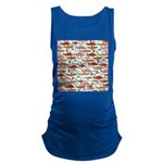 Pacific Salmon pattern Maternity Tank Top