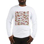 Pacific Salmon pattern Long Sleeve T-Shirt