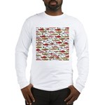Pacific Salmon pattern Long Sleeve T-Shirt