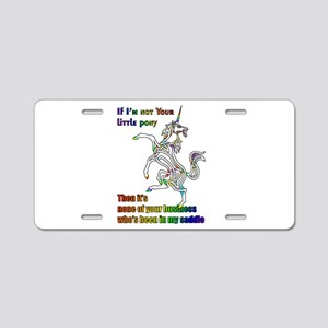 My Li'l Unicorn Aluminum License Plate