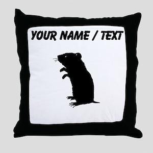 Gerbil Silhouette (Custom) Throw Pillow