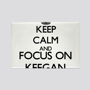 Keep Calm and Focus on Keegan Magnets